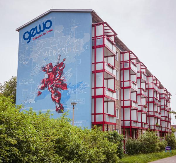 Transformer Graffiti in Suhl (Thüringen)